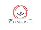 Zeichen, zweifarbig, Zeichnung, Sonne, Sonnenaufgang, Mensch, Horizont, Logo