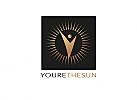 Zeichen, zweifarbig, Zeichnung, Sonnen, Mensch, Logo