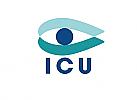 Zeichen, zweifarbig, Zeichnung, Auge, Arzt, Optiker, Security, Logo