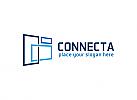 Ö, Link, Marketing, Medien, Verbindung, Rechteck, Synergie, Quadrat Logo