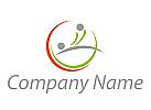 Ökomedizin, Zwei Personen, Massage, Orthopädie Logo