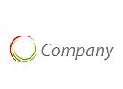 Kreis aus Halbkreise Logo