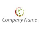 Ökologisch, Person in Bewegung, Sport, Physiotherapie, Logo