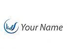 Ökologisch, Wellen, Kreis, Wellness, Logo
