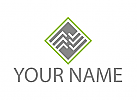 Rechteck, Linien, Verbindungen, Logo