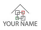 Zeichen, Zeichnung, Symbol, Wappen, Rechtecke, Haus, Fliesen, Fliesenleger, Logo