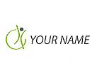 Zirkel, Zeichen, Zeichnung, Person in Bewegung, Kreis, Physiotherapie, Logo