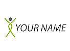 Ökologisch, Person in Bewegung, Physiotherapie, Logo