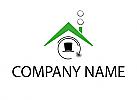 Dach und Schornstein, Schornsteinfeger Logo