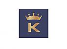 Zeichen, zweifarbig, Zeichnung, Krone, Initiale, Logo