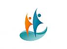 Zeichen, zweifarbig, Zeichnung, zwei Menschen, Segel, Logo
