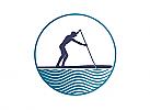Zeichen, zweifarbig, Zeichnung, SUP, Stand Up Paddle, Logo