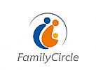 Zeichen, drei Menschen, Familie, Gruppe