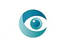 Zeichen, zweifarbig, Auge, Augenarzt, security, C, Logo