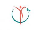 Öko, Zeichen, zweifarbig, Mensch, Natur, Kreis, Logo