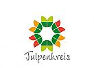 Zeichen, Symbol, Tulpen, Tulpenkreis, Garten, Blumenmuster