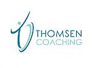Zeichen, zweifarbig, Mensch, Coaching, Consulting, T, Logo