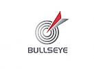 Zeichen, zweifarbig, Zielscheibe, Pfeil, Bullseye, Logo