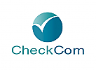 Zeichen, zweifarbig, Kugel, Checkmark, Vogel, Logo