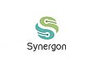 Ö, Zeichen, zweifarbig, Zeichnung, BUchstabe S, Sinergie, Beratung Logo