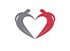 Ö, Zeichen, zweifarbig, zwei Menschen, Herz, Logo