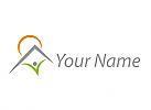Zeichen, Zeichnung, Symbol, Person, Haus, Sonne, Ferienwohnung, Logo