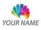 Spirale in Regenbogenfarben, Spektrum, Logo