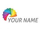 Spirale, Farbig, Spektrum, Logo