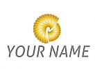 Zwei Spirale, Gold, Logo
