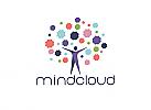 Zeichen, Zeichnung, Mensch, Cretativ, Mindmap, Cloud, Logo