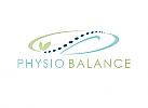 Öko, Zeichen, Physiotherapie, Orthopädie, Kreislauf, Logo