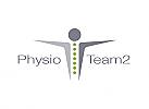 Ökologie, Zweifarbig, Zeichen, Signet, Symbol, Mensch, Wirbelsäule, Physiotherapie, Osteophatie, Logo