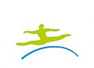 Zeichen, Symbol, Mensch, Springer, Bewegung, Physiotherapie