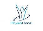 Zeichen, zweifarbig, Zeichnung, Mensch, Physiotherapie, Logo