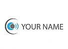 Kugel, Kreise, Wellen, Auge, Logo