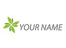 Zweifarbig, Viele Blätter, Pflanzen, Logo