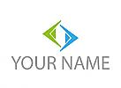 Dreiecke , Pfeile, Logo