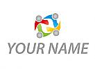 Ökologie, Vier Personen, Team, Familie, Logo