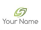 Zwei Blätter, Pflanzen, Logo