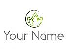 Zeichen, Zeichnung, Kreis und Blätter, Pflanze, Logo