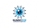 Zeichen, Signet, Symbol, Auge, Sonne, Optiker, Augenarzt, Linse, Fokus, Iris Logo