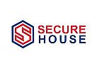 Zeichen, zweifarbig, Signet, Hexagon, Sicherheit, S, Logo