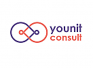 Zeichen, zweifarbig, Einheit, Verbindung, Menschen, Coaching, NLP, Logo