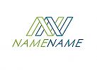 Zeichen, zweifarbig, System, Verbindung, Einheit, Netzwerk, NN, Logo