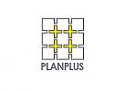 Zeichen, zweifarbig, Zeichnung, Plan, Verbindung, Pluszeichen, Netzwerk, IT, Logo