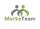 Zeichen, zweifarbig, zwei Personen, Menschen, Logo