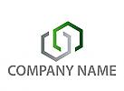 Zwei Sechsecke, Bau, Logo