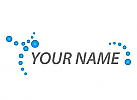Viele Kugel in blau, Kreise, Logo