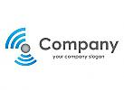 Kugel und Wellen, Halbkreise, Logo