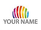 Regenbogen Kreis, Farbig, Logo